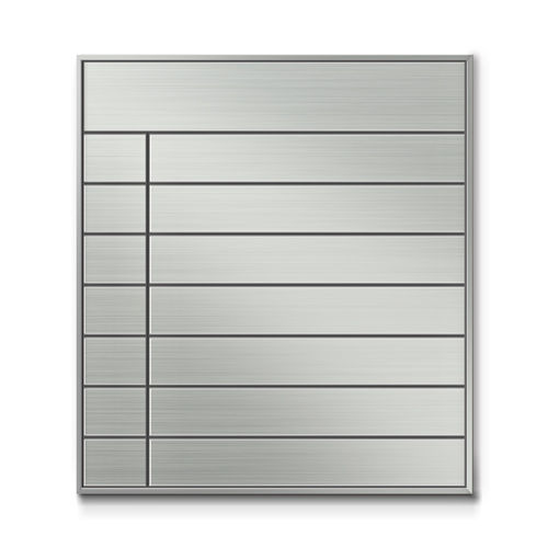 SF450-8段セパレート案内板四方枠ステンレス型無地幅460×高510×厚15mm