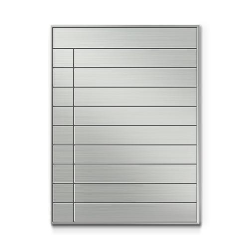 SF600-10段セパレート案内板四方枠ステンレス型無地幅610×高820×厚15mm