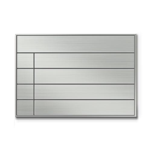 SF600-5段セパレート案内板四方枠ステンレス型無地幅610×高420×厚15mm