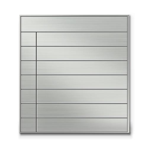 SF600-8段セパレート案内板四方枠ステンレス型無地幅610×高660×厚15mm
