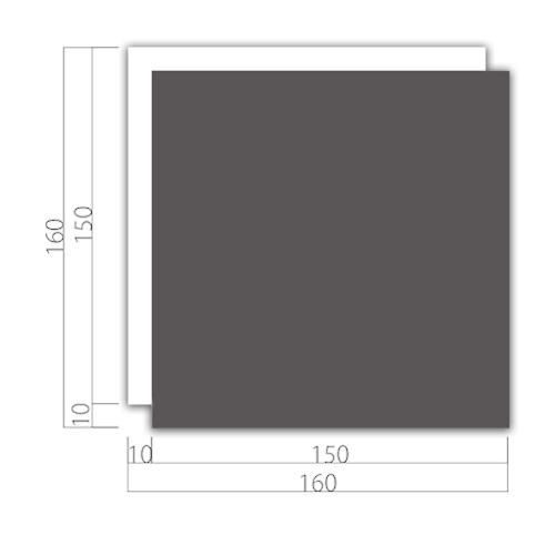 WP160-M アクリルWプレート 正面型 M価格 幅160×高160×厚9mm