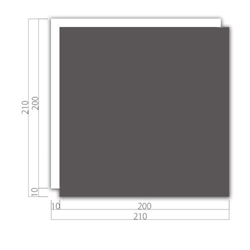 WP210-MアクリルWプレート正面型M価格幅210×高210×厚9mm