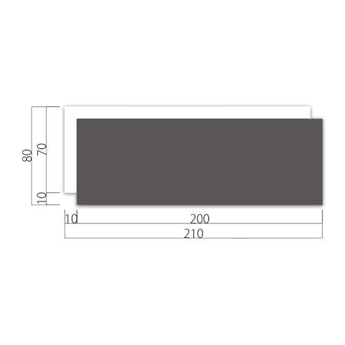 WP80-MアクリルWプレート正面型M価格幅210×高80×厚9mm