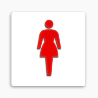 アクリル加工トイレ表示                         FAPアクリル立体ピクトベース付