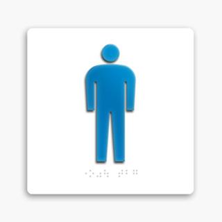 アクリル加工トイレ表示                         FH-FAPアクリル立体ピクト点字入ベース付