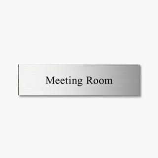 Meeting Room FTSステンレスMeeting Roomプレート
