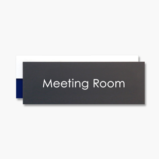 Meeting Room WPMアクリルWプレート切替表示Meeting Roomプレート