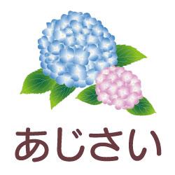 あじさいのピクトサイン 花/植物のピクト
