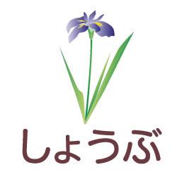 しょうぶのピクトサイン 花/植物のピクト