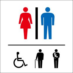 多目的トイレのピクトサイン 定番ピクト