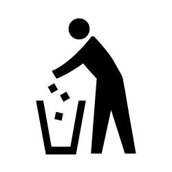 ゴミ箱のピクトサイン 定番ピクト