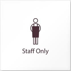 飲食向け StaffOnly アクリル/正方形