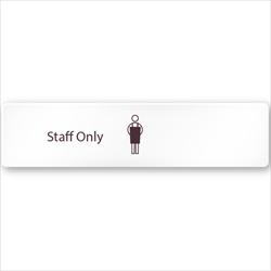 飲食向け StaffOnly アクリル/長方形