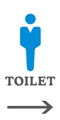 男子トイレのピクトサイン