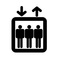 エレベーターのピクトサイン