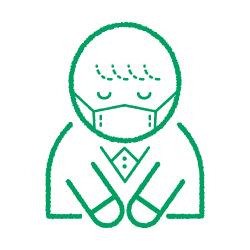ご協力お願いしますのピクトサイン コロナ感染対策ピクト