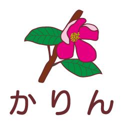 かりんのピクトサイン 花/植物のピクト
