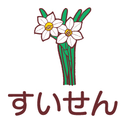 すいせんのピクトサイン 花/植物のピクト