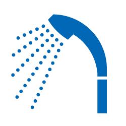 シャワーのピクトサイン 定番ピクト