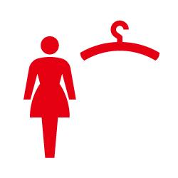 更衣室(女子)のピクトサイン 定番ピクト
