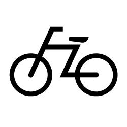 自転車のピクトサイン 定番ピクト