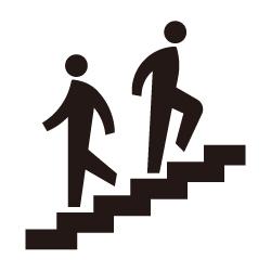 階段のピクトサイン 定番ピクト