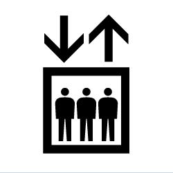 エレベーターのピクトサイン 定番ピクト