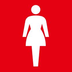 女子トイレのピクトサイン 定番ピクト