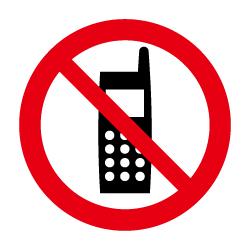 携帯電話使用禁止のピクトサイン 定番ピクト