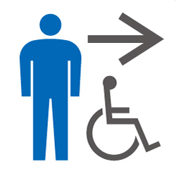 男子・多目的トイレのピクトサイン