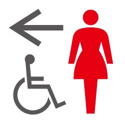 女子・多目的トイレのピクトサイン