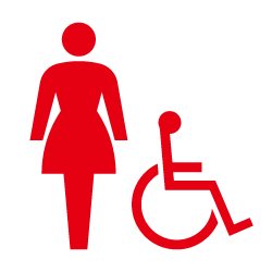 女子トイレのピクトサイン