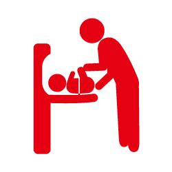 乳幼児用設備のピクトサイン